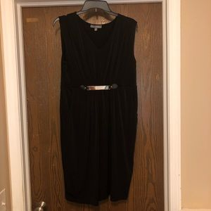 Black sleeveless dress by NY collection. Size M